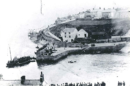 The Lifeboat House under construction during a regatta in 1894.