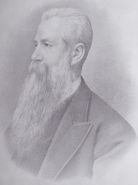 This fine drawing of William Bickford-Smith MP hangs in Helston Museum.