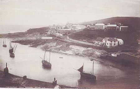 In this image the older Lifeboat house can be seen directly up the hill, to the left of the building with the white window outers.