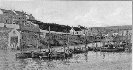 The metal doors of the Lieboat House can be clearly seen in this image from the early 1900's.
